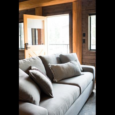Living area 2-bedroom cabin