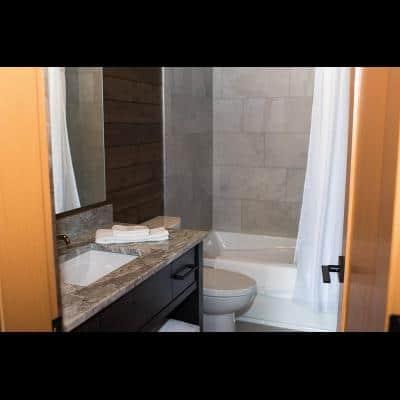 Bath at 2-bedroom cabin