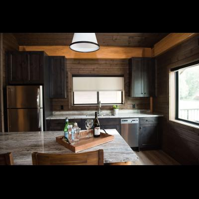 Kitchen area at 2-bedroom cabin