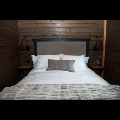 Bed at 2-bedroom cabin